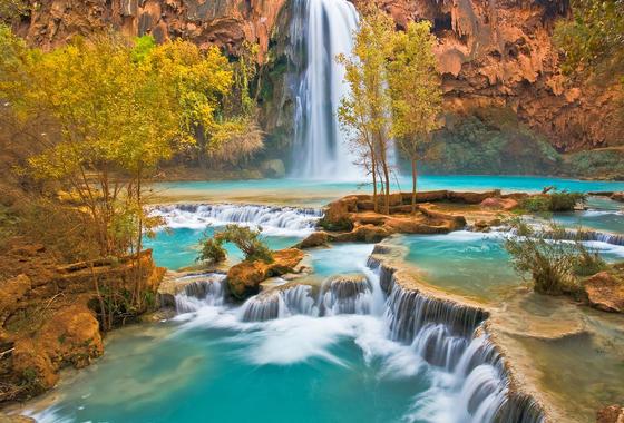 Водопад хавасу havasu falls